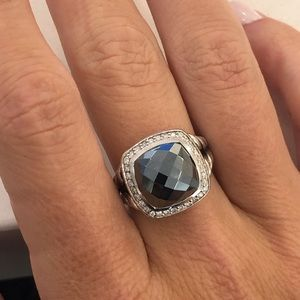 David Yurman 11mm Albion Ring Hematite size 7